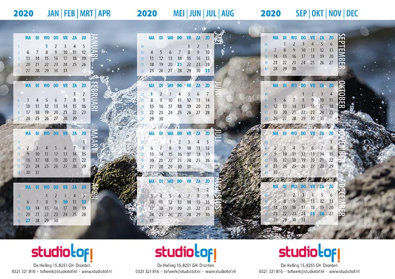 Bureaukalenders driehoekskalender 2020