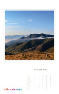Wereld wandkalender 2020