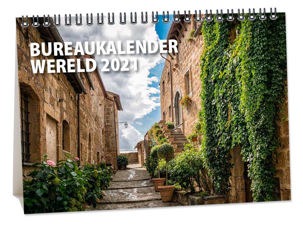 Bureaukalender wereld 2021