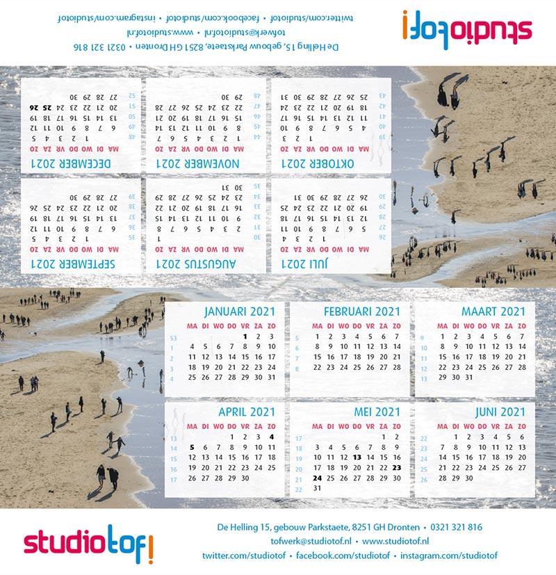 Kalender driehoek liggend 2001 BKL-001