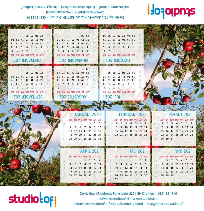 Kalender driehoek liggend 2001 BKL-002