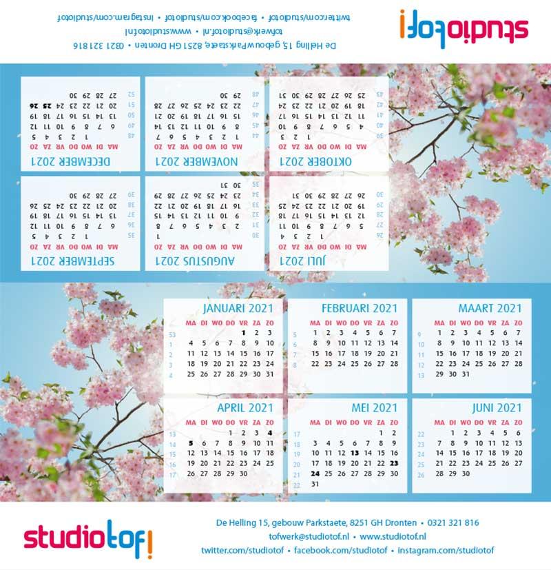 Kalender driehoek liggend 2001 BKL-003