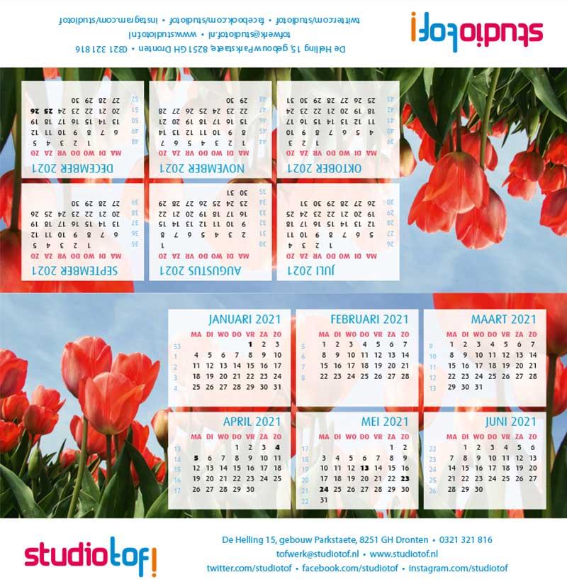 Kalender driehoek liggend 2001 BKL-004