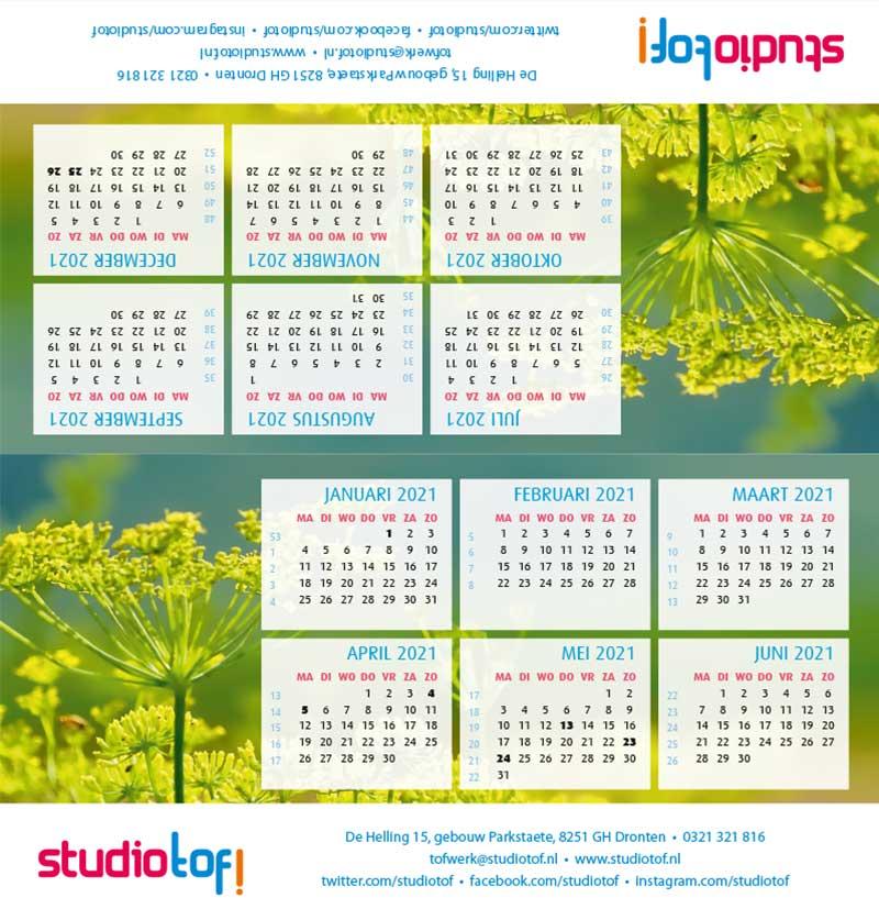 Kalender driehoek liggend 2001 BKL-005