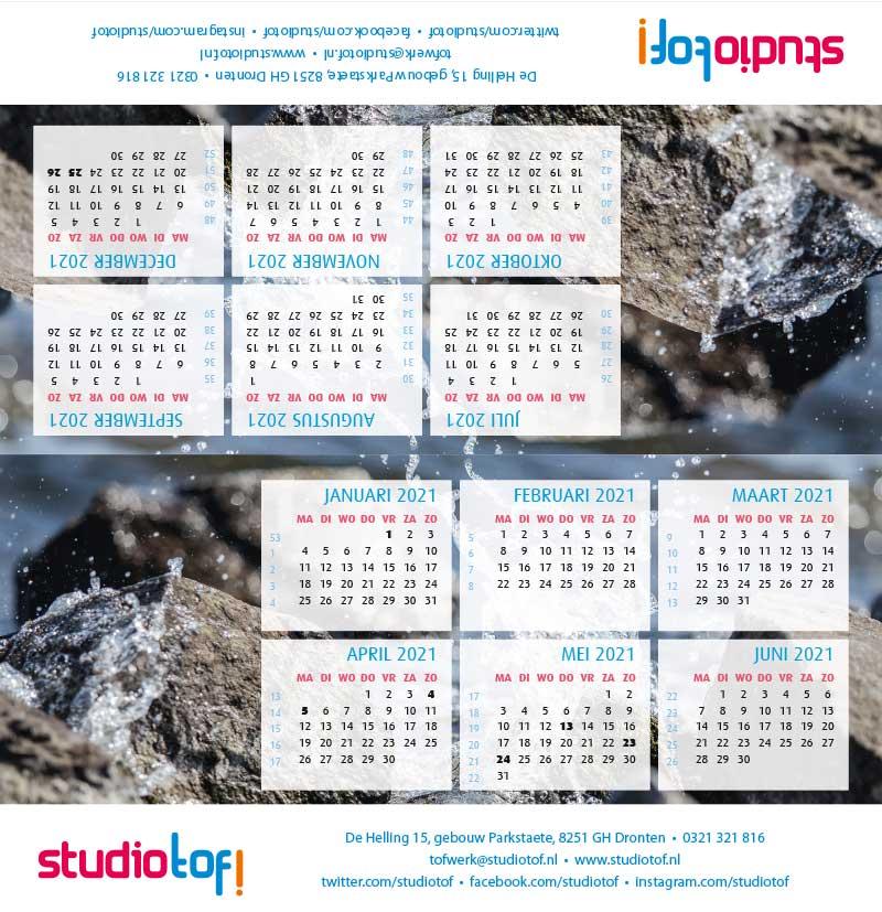 Kalender driehoek liggend 2001 BKL-006