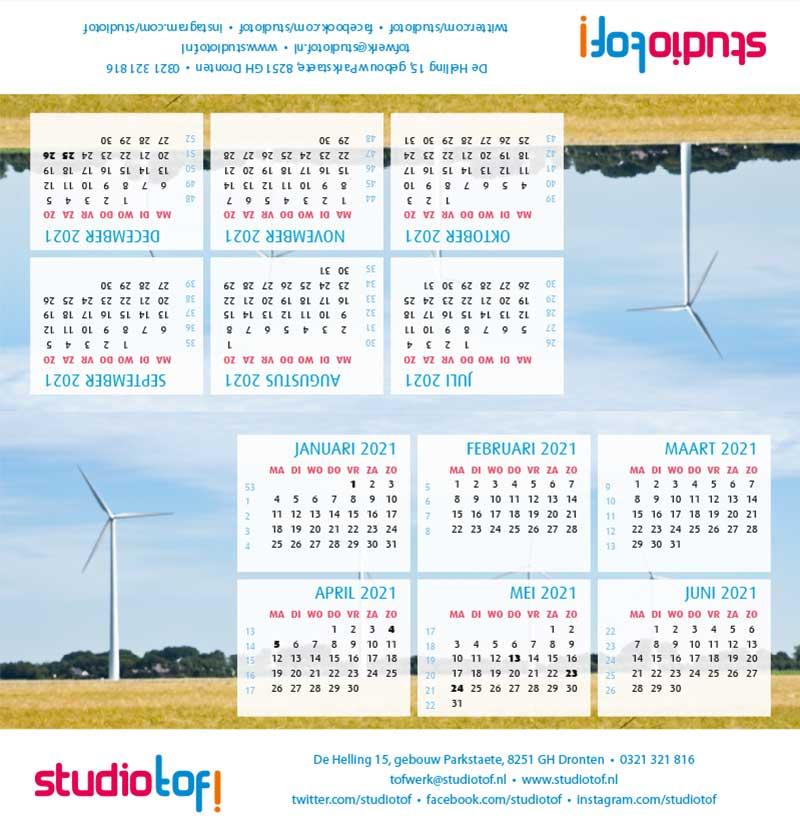 Kalender driehoek liggend 2001 BKL-007