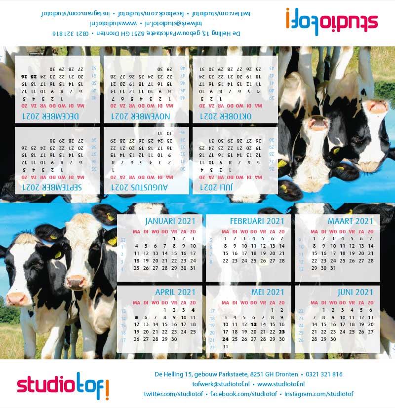 Kalender driehoek liggend 2001 BKL-008