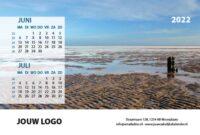 A5 Bureaukalender Langs de Noordzee 2022