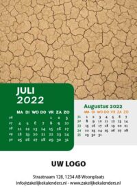 A6 Bureaukalender Patterns 2022