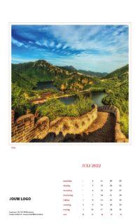 Wereld wandkalender 2022